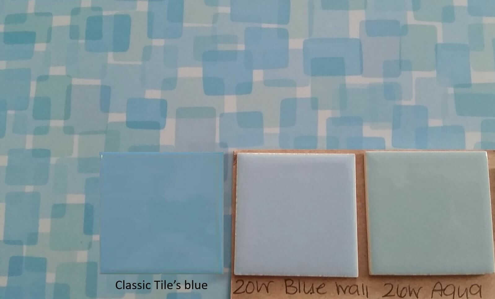 Formica blue Nassau laminate - which color tile - blue or aqua - to ...