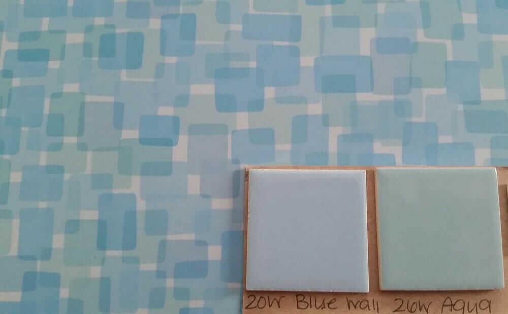 Formica blue Nassau laminate - which color tile - blue or aqua - to ...