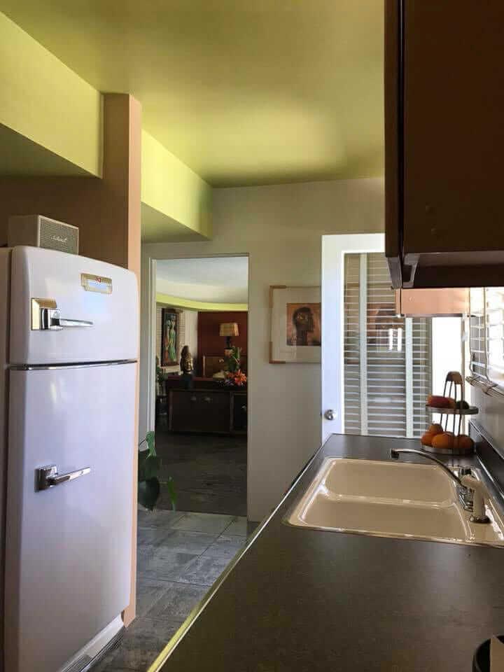beige steel kitchen cabinets
