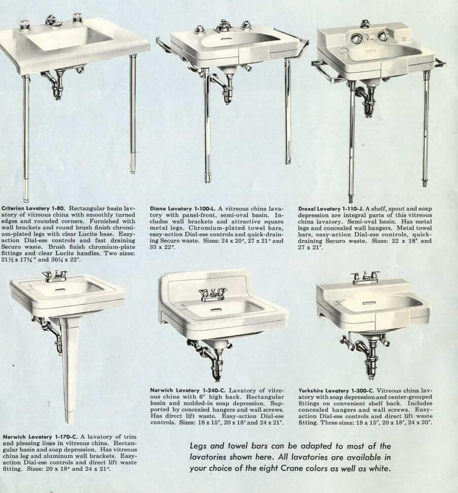 Crane Bathroom Sink
