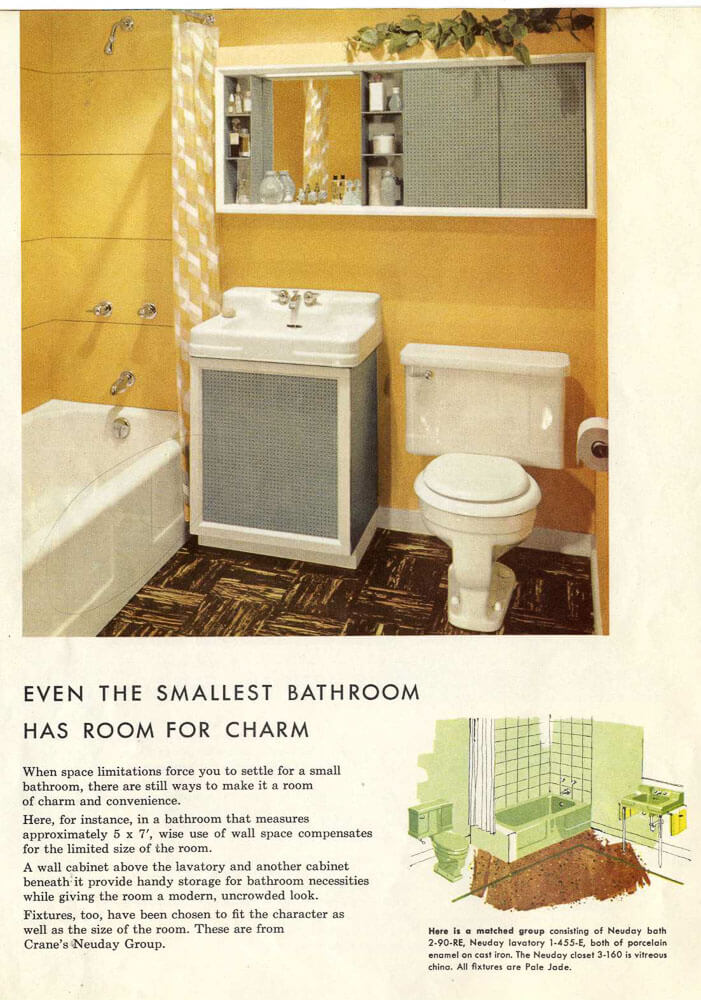 1954 Grey Blue Ceramic Bathroom Tile 1950 Time Capsule