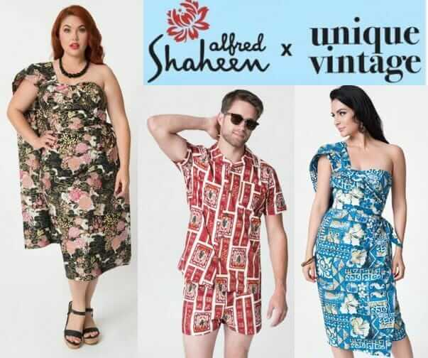 Alfred Shaheen for Unique Vintage sarong dresses, cabana