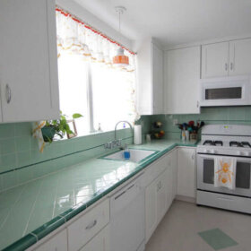 retro kitchen before and after
