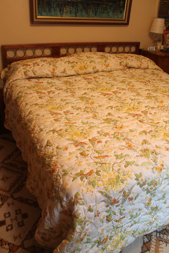 vintage quilted bed spread