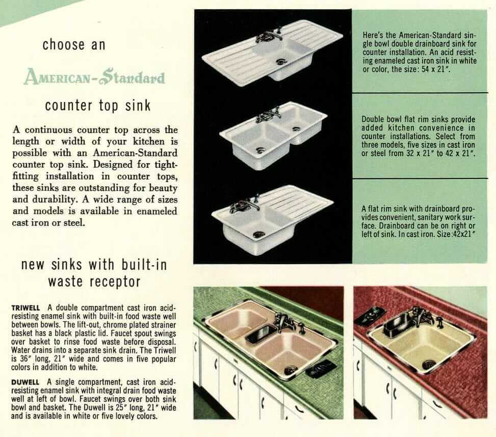 American Standard Steel Kitchen Cabinets 16 Page Catalog From 1953