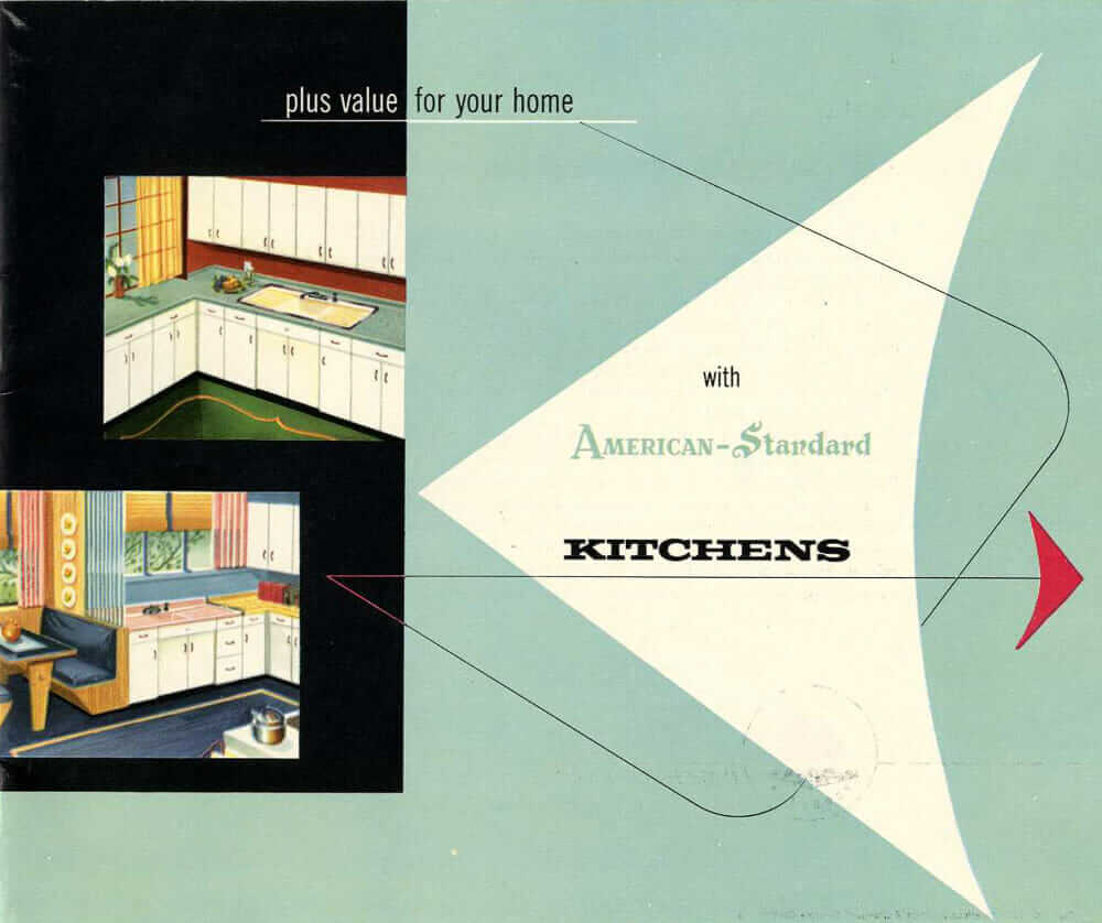 American-Standard steel kitchen cabinets — 16-page catalog from 1953