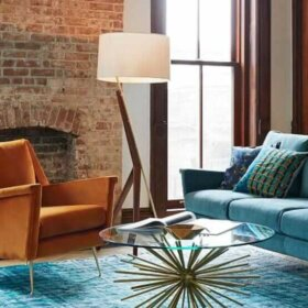 carlo chair and sofa from west elm