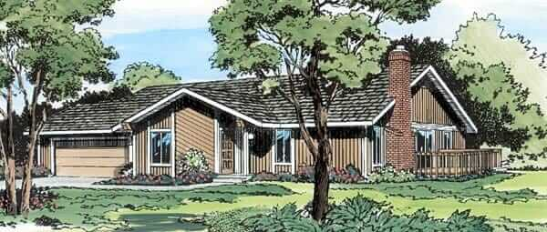 contemporary mid century house plan you can buy today