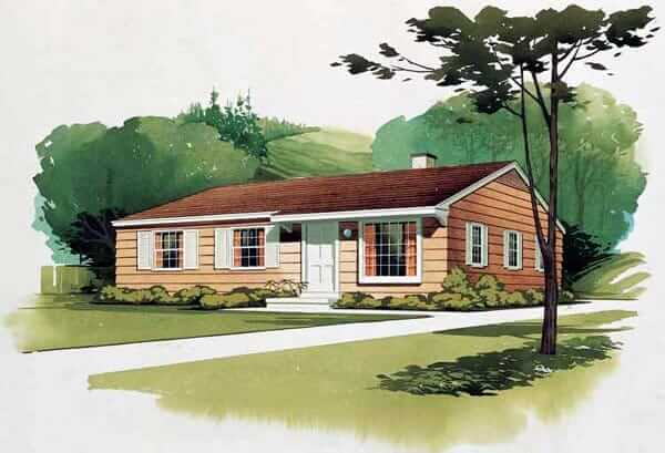 midcentury house plan