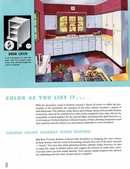 1940s kitchen colors