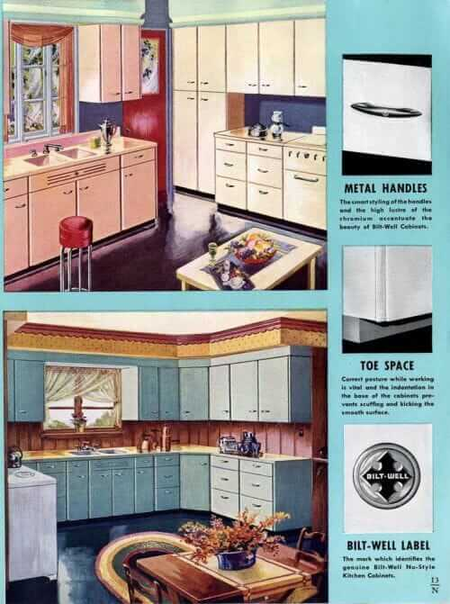 colors for 1940s kitchen cabinets
