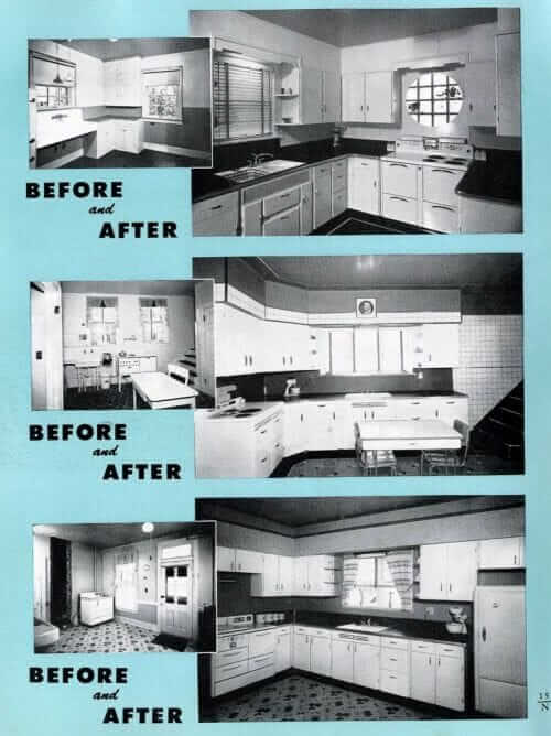 farmhouse kitchens updated in the 1940s