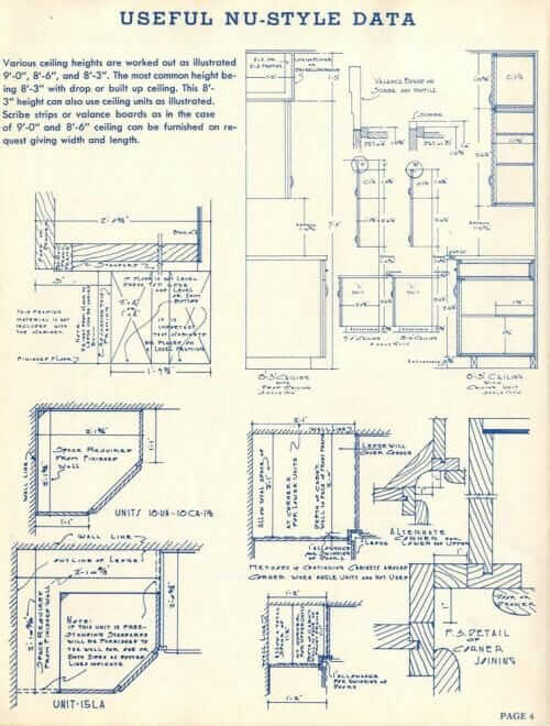 how 1940s wood cabinets were constructed