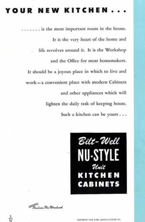 bilt-well kitchen cabinets catalog page