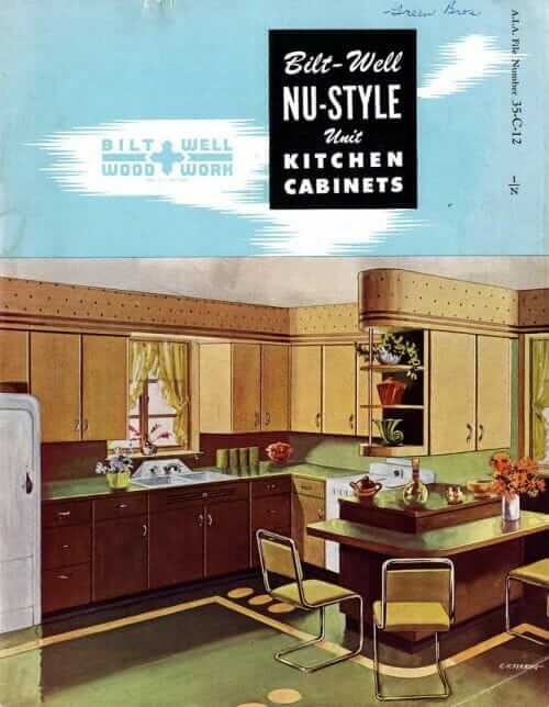 Wood kitchen cabinets were surely more popular than steel kitchen cabinets after World War II. Homemakers were very familiar with the comfort of wood ... & Classic midcentury wood kitchen cabinets from 1948 - 20 pages of Nu ...