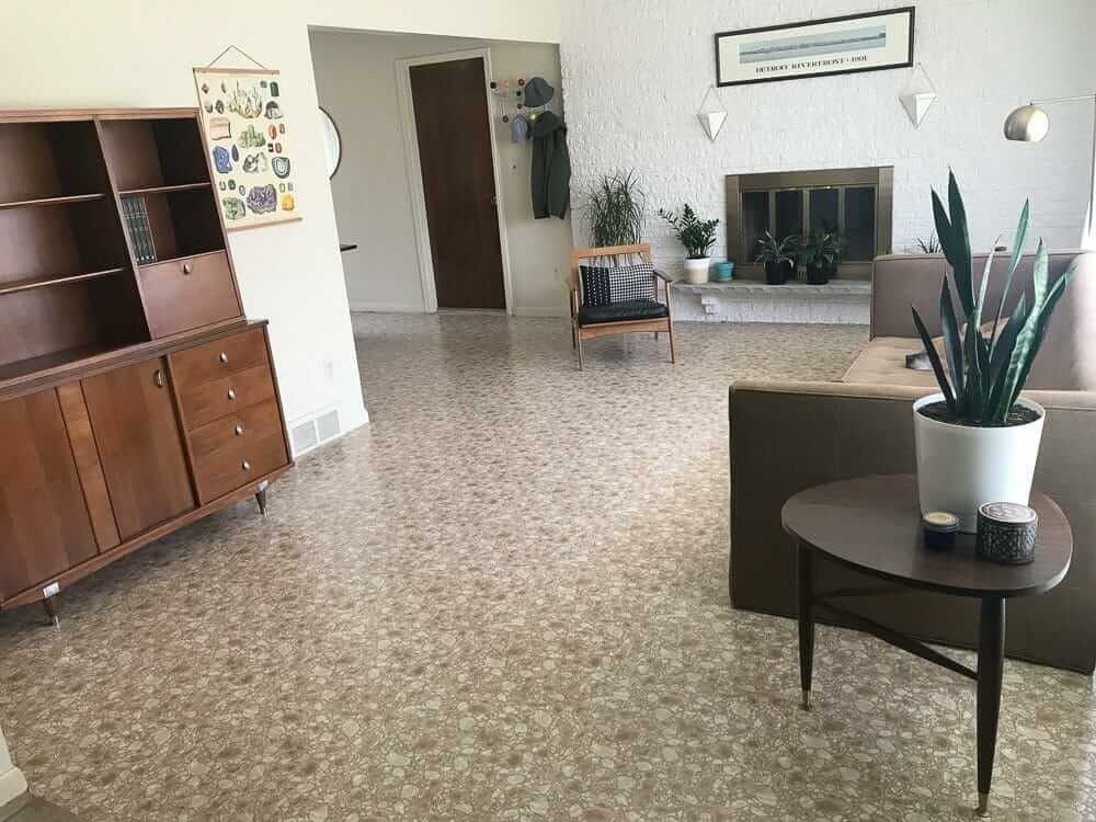 Sarah Uses Armstrong Royelle Rock Hill Stone Flooring As A
