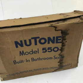 new old stock nutone recessed bath scale