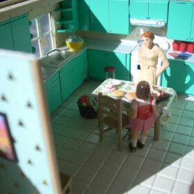 quarter scale doll house mid century modern