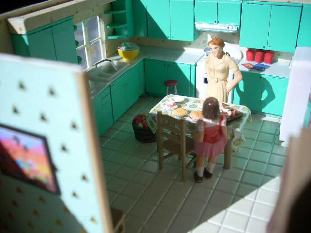 quarter scale doll house mid century modern