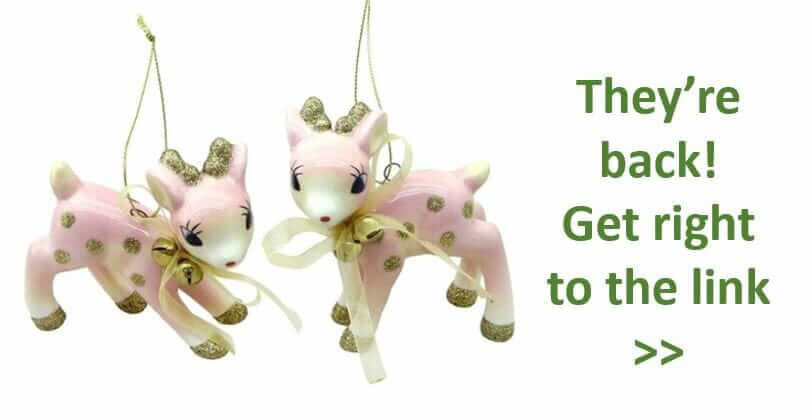 Pink Ceramic Reindeer Christmas Ornaments They Re Back