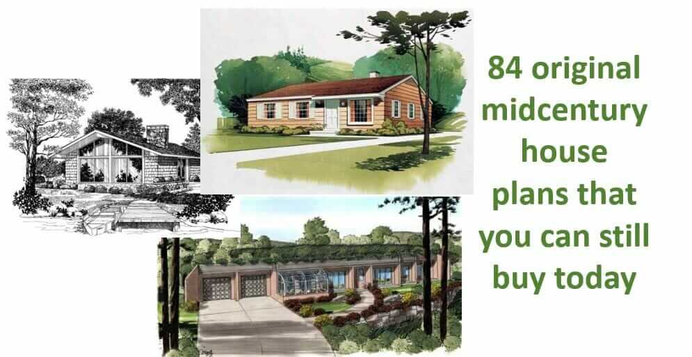 84 original retro midcentury house plans - that you can ...