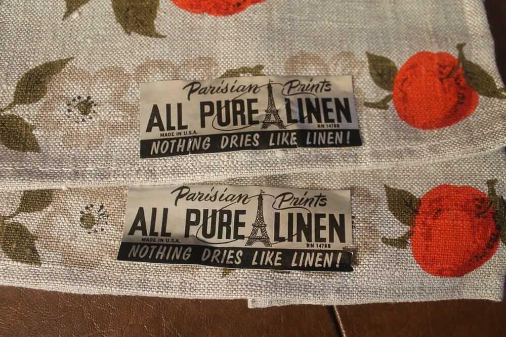 vintage linen tea towls