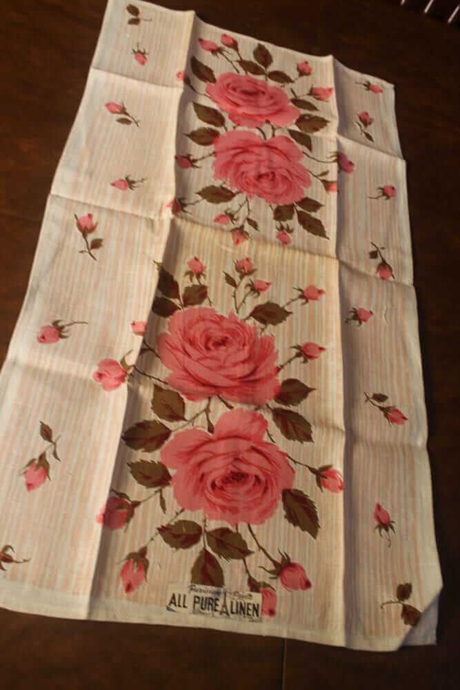 roses tea towel