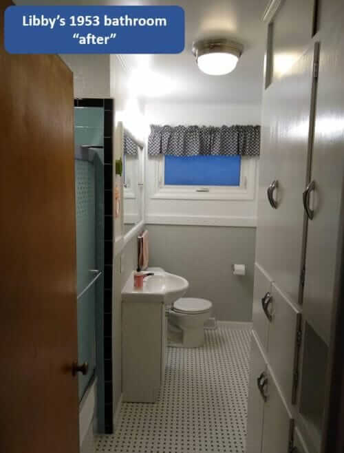 midcentury bathroom remodel after