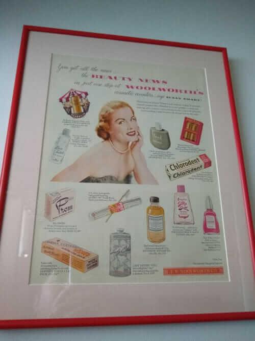 framed vintage magainze ads