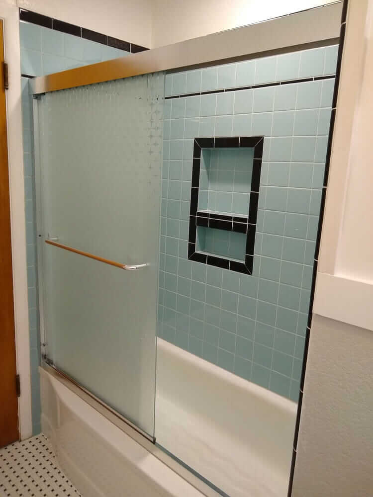 midcentury shower door