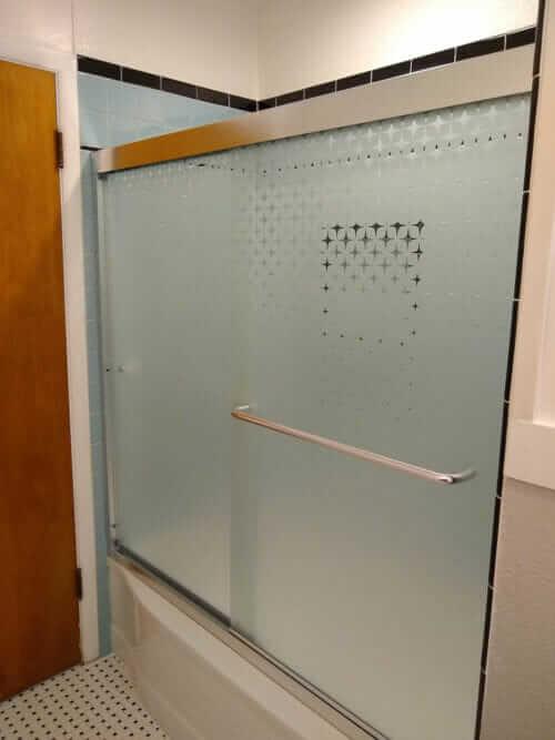 Starscape shower doors