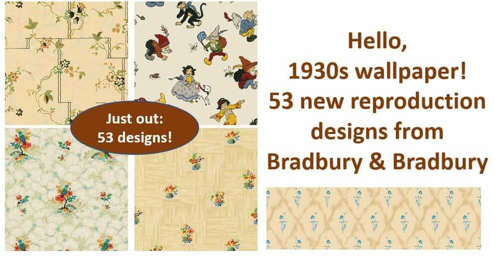 53 Designs Of 1930s Wallpaper Now Available From Bradbury