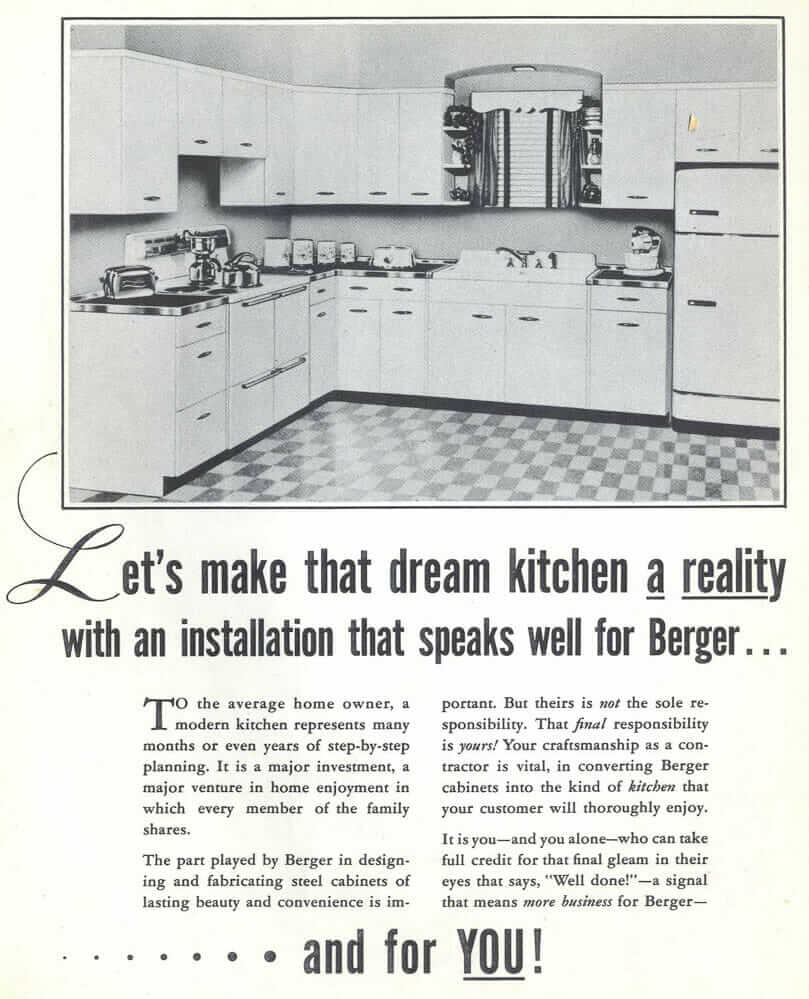 Berger Steel Cabinets for Kitchens - a catalog from 1949 ...
