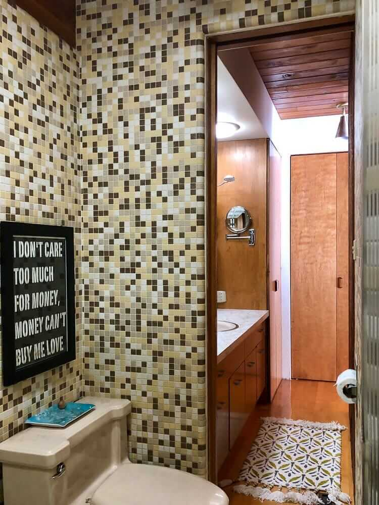 Mosaic Bathroom Tiles 3 Unique Designs In Kim S 1962 House Retro