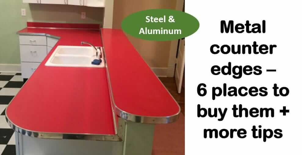 Where to find metal counter edge trim - steel, aluminum and