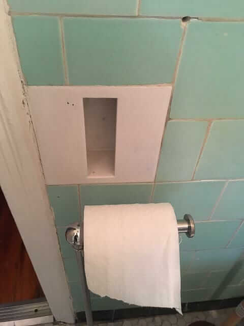 mystery bathroom holder