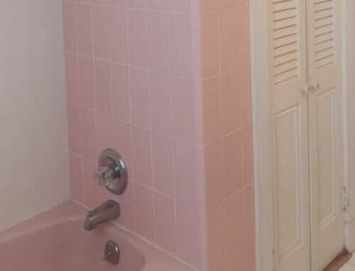 pink tile 4 inches by 8 inches