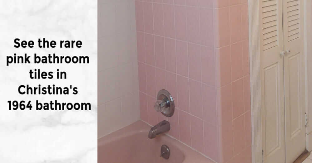 large pink bathroom tiles