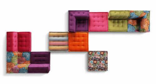 missoni home mah jong sofa for roche bobois