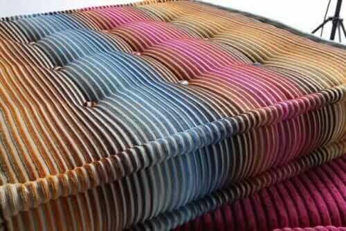 detail of mah jong sofa upholstery