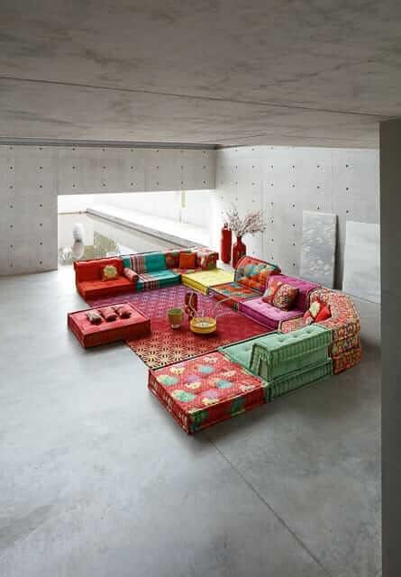 mah jong sofa composition by kenzo takada