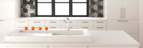 blanco modex modern sink in white