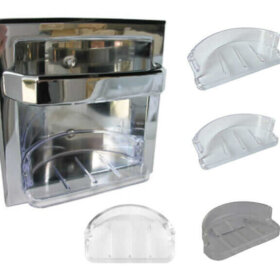 plastic soap trays for recessed metal soap holders