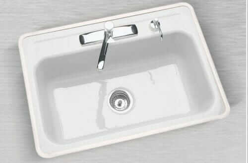 ceco cast iron single bowl white cast iron sink