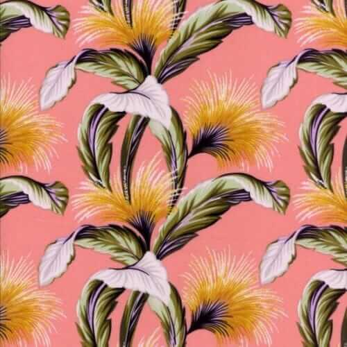 tropical fabric pink