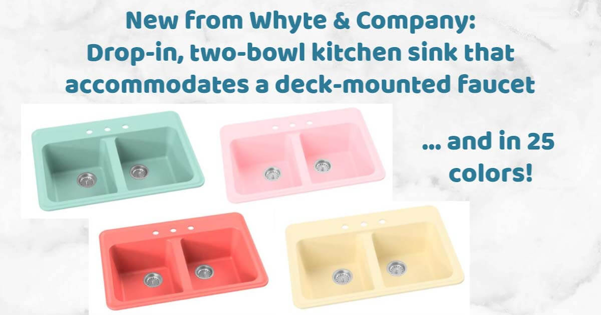 Colored kitchen sink in 25 colors, deck mount faucet design ...