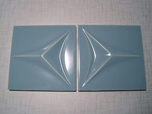 midcentury sculptural tile contours