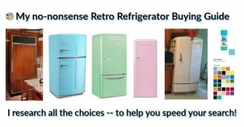 where to buy a retro refrigerator