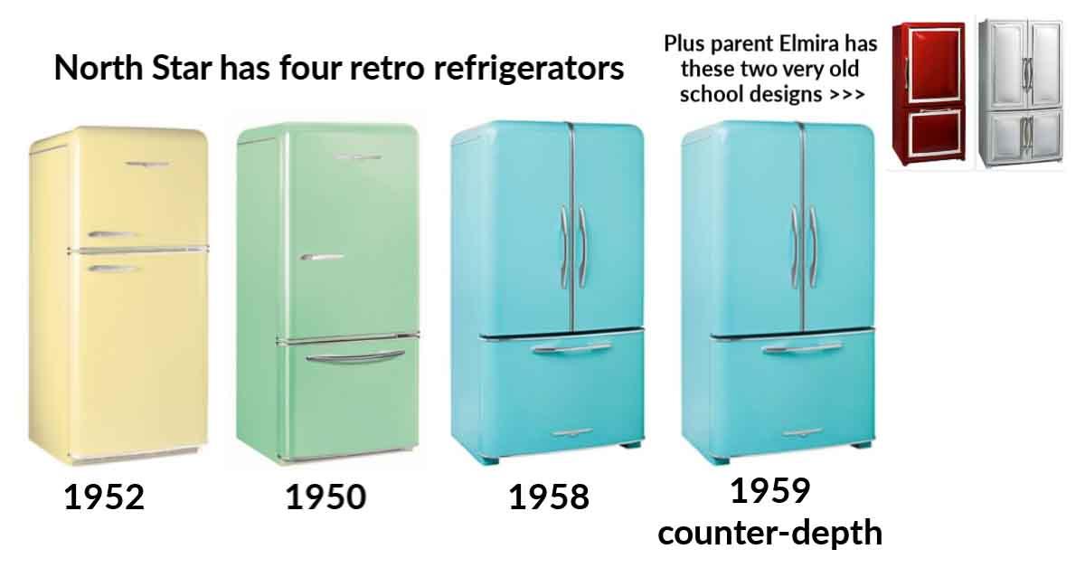retro refrigerators by northstar