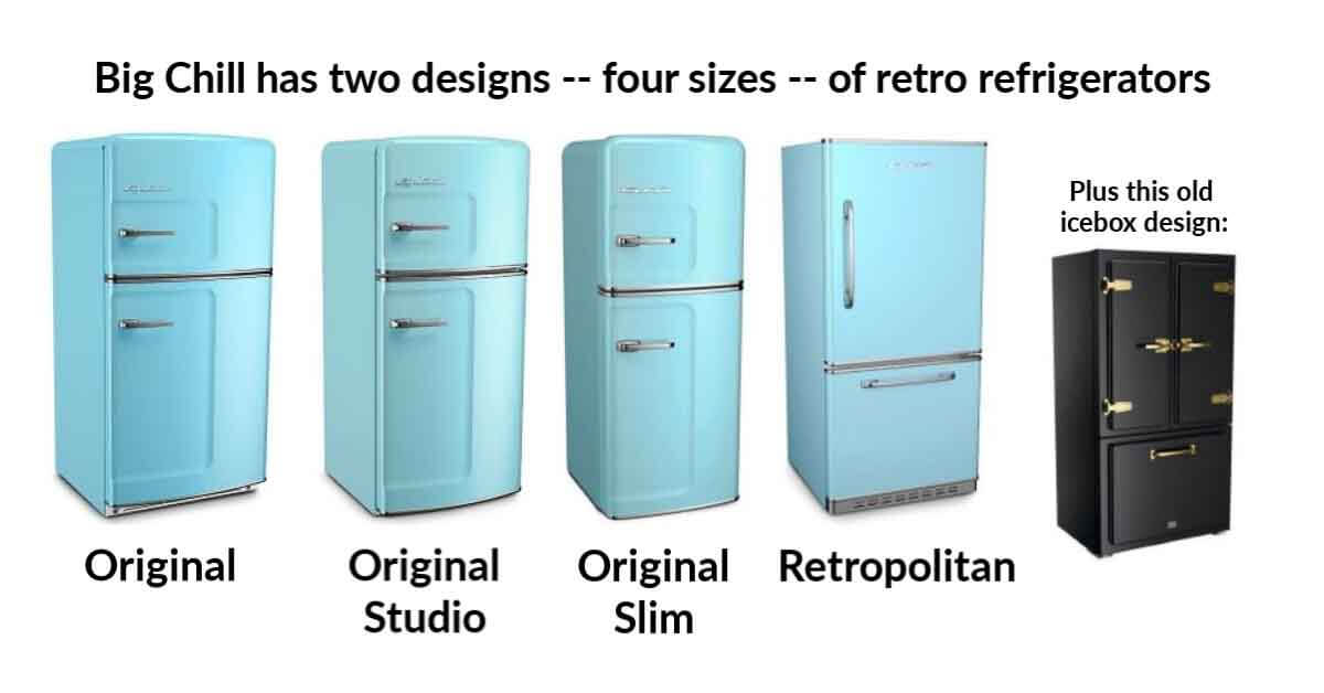 retro refrigerators by big chill